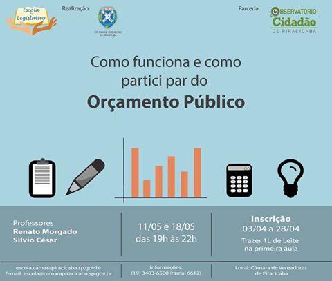 Oficina: Como funciona e como participar do Orçamento Público?
