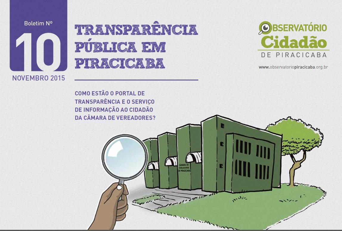 Câmara tem maior índice de transparência desde o início da avaliação do Observatório