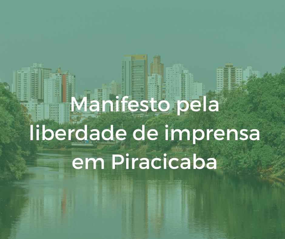 Manifesto pela liberdade de imprensa em Piracicaba