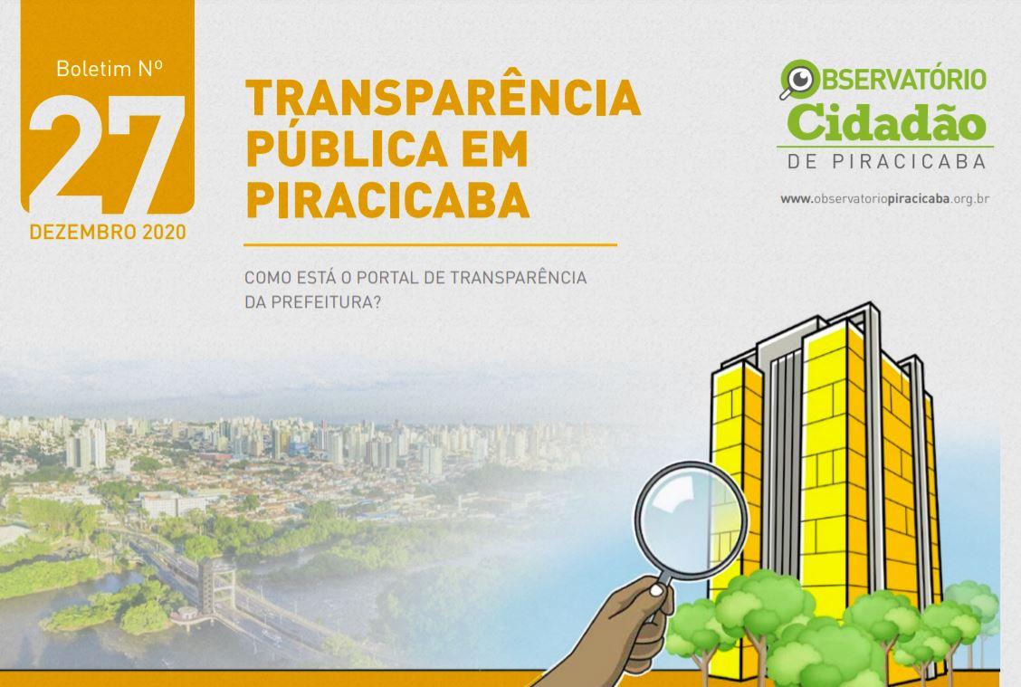 Observatório Cidadão de Piracicaba apresenta propostas para aumento da transparência da Prefeitura