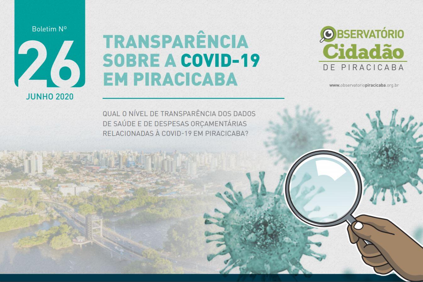 Piracicaba não atende a critérios de transparência na divulgação de dados de saúde relacionados à Covid-19