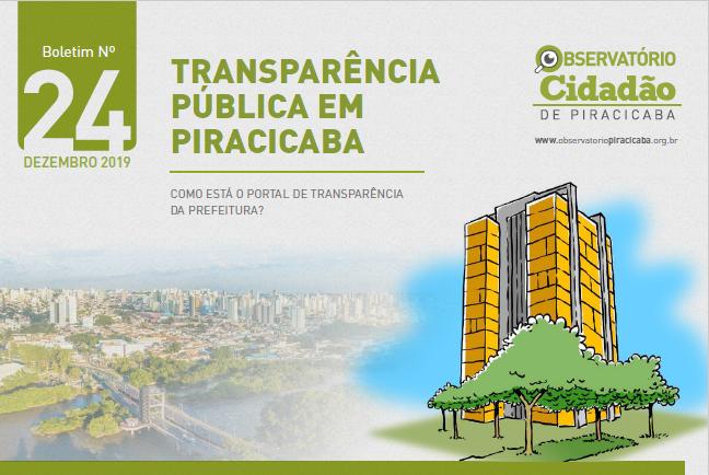 Indicadores de transparência da Prefeitura e Câmara de Vereadores não apresentam melhoras, aponta Observatório Cidadão de Piracicaba