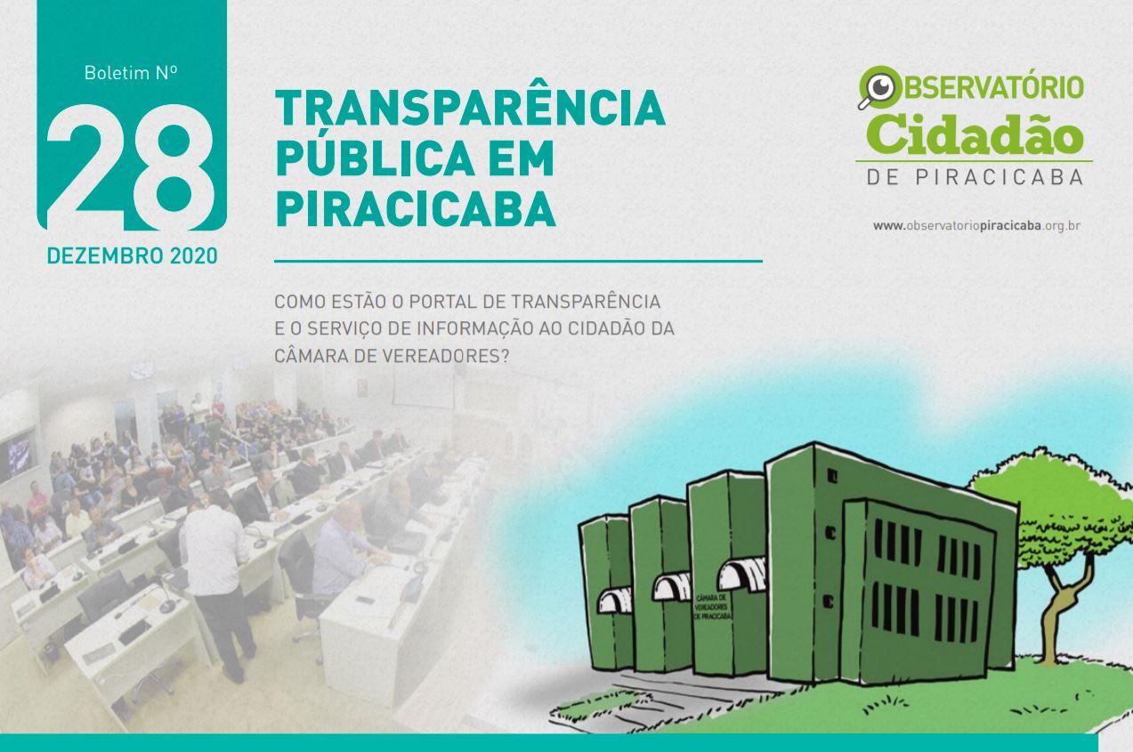 Câmara de Vereadores de Piracicaba mantém transparência recorde e aprofunda Programa Parlamento Aberto